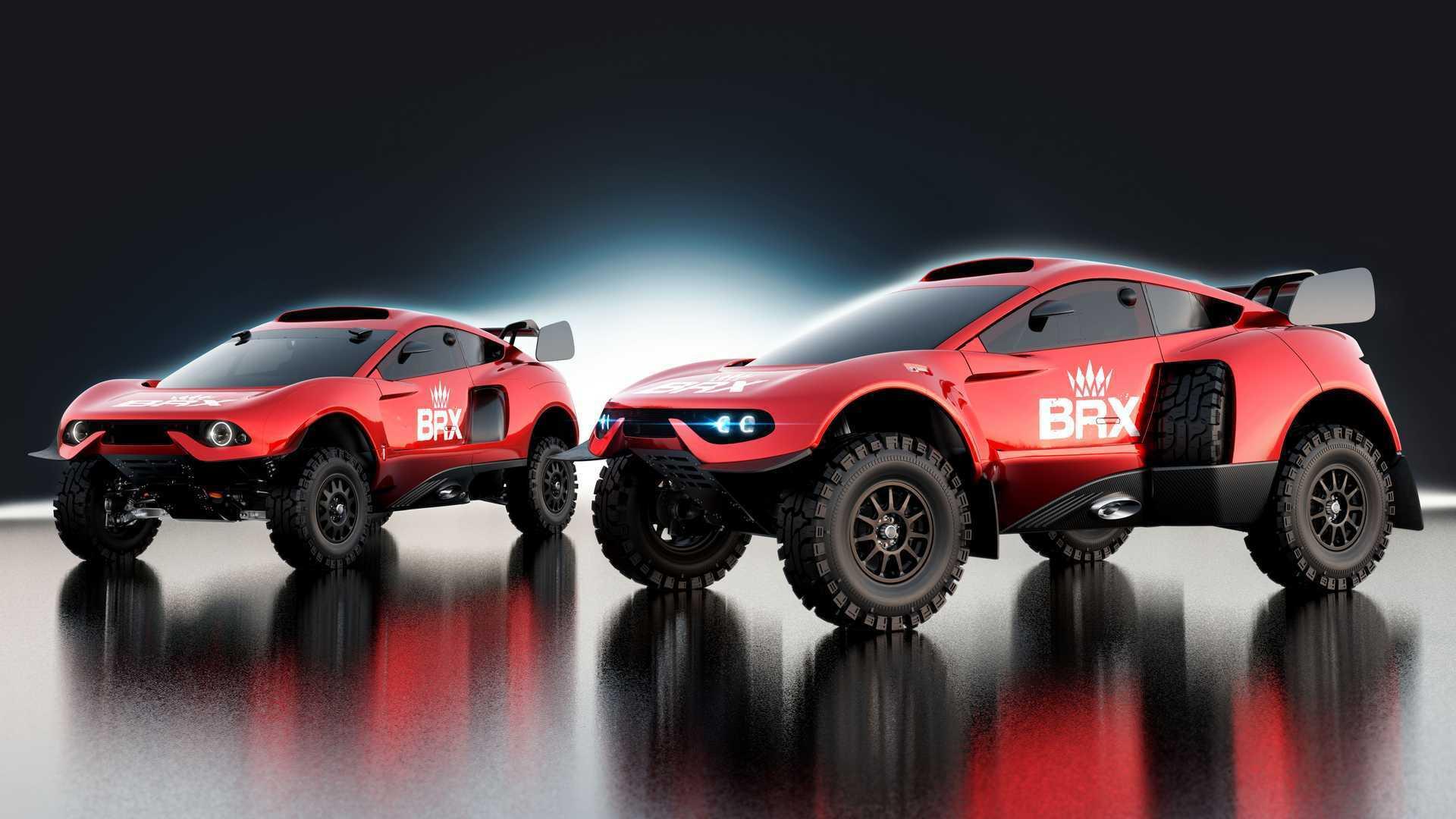 BRX Hunter T1+ стал на 300 мм шире, чем предшественник (на фото слева) и теперь его ширина достигает 2,3 м