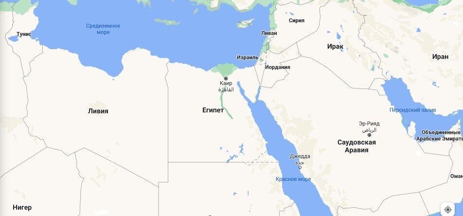 Де розташований Єгипет на карті