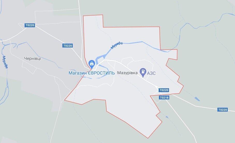 Село Мазурівка розташоване в Чернівецькому районі Вінницької області