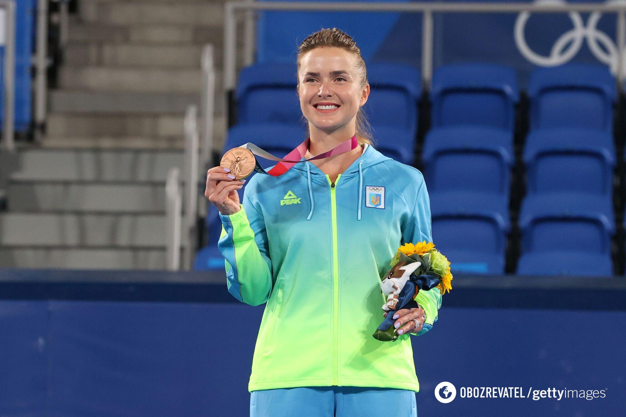 Еліна Світоліна з медаллю
