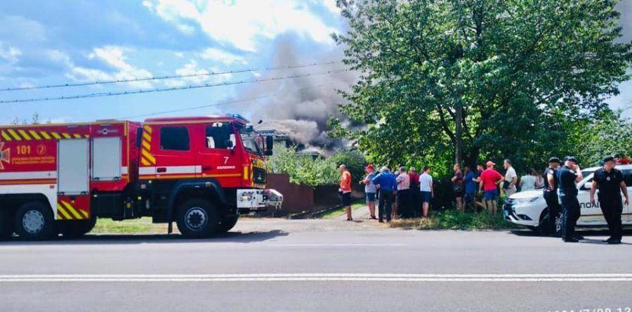 Пожежникам довелося гасити серйозна пожежа
