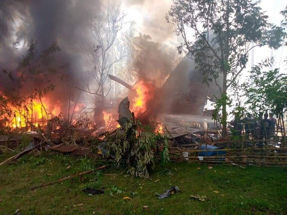 C-130 загорелся