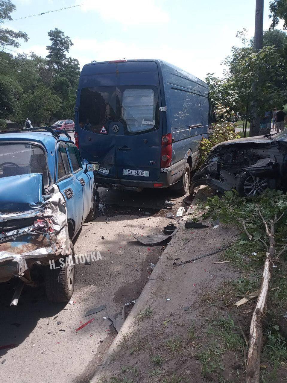 Столкновение в Харькове в районе ХТЗ