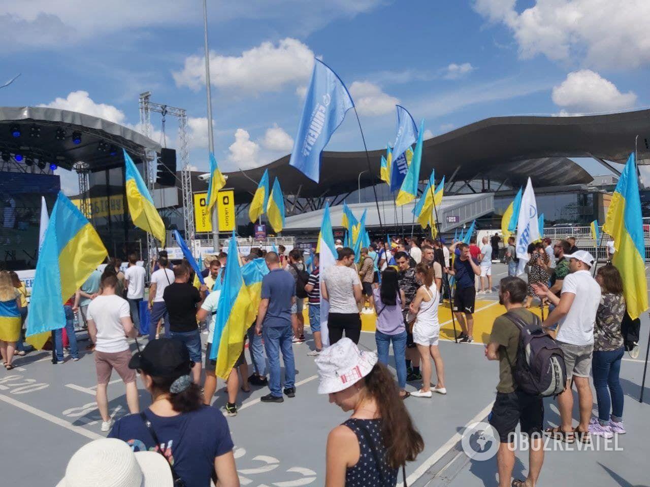 Болельщики приехали в Борисполь