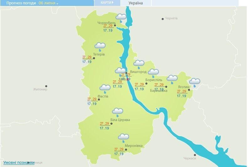 Погода в Киевской области