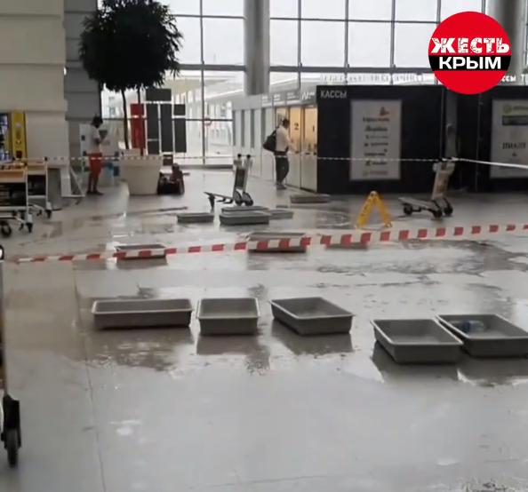 У новому аеропорту Сімферополя протік дах