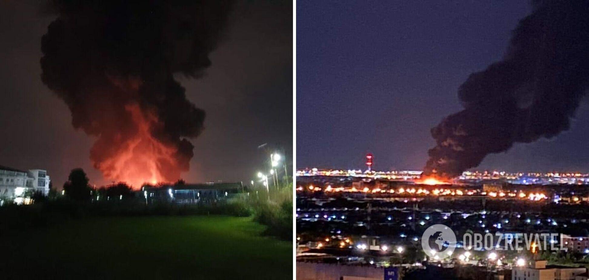 Вибух на заводі хімікатів призвів до великої пожежі