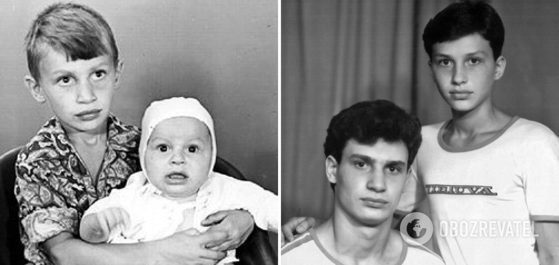 Братья Кличко в детстве
