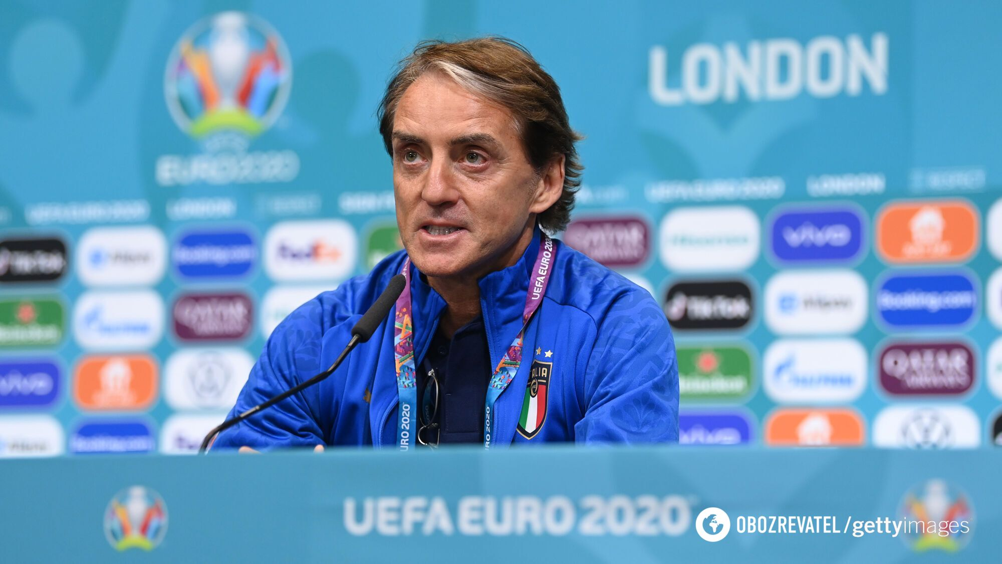 Тренер Италии Роберто Манчини.