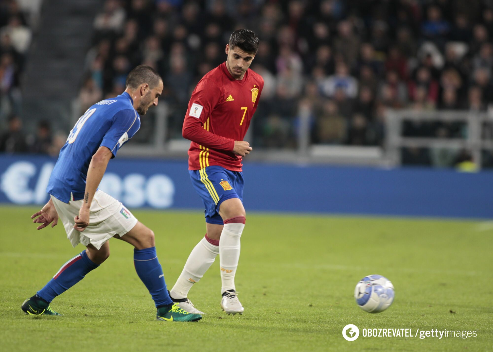 Матч Испания – Италия на Евро-2016.