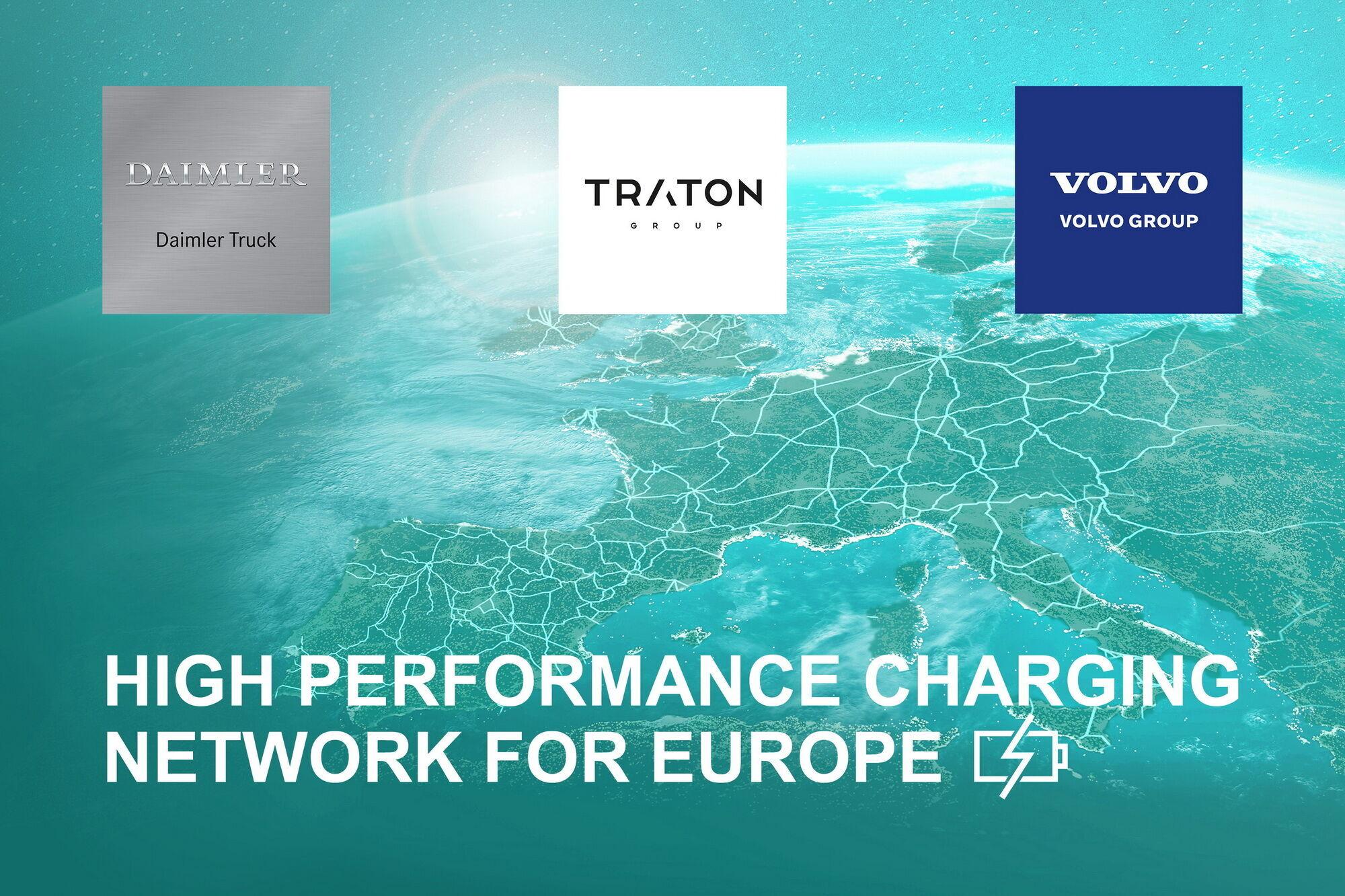 Три провідні виробники комерційної техніки – Daimler Truck, Traton Group (VW) і Volvo Group – підписали угоду про створення спільного підприємства