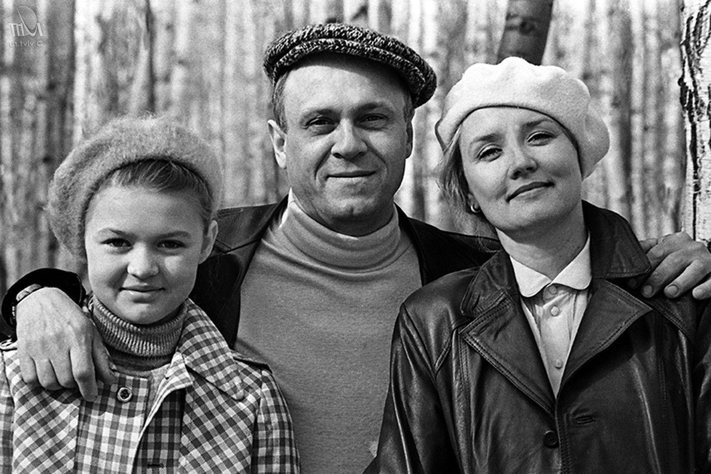 Володимир Меньшов з дружиною і дочкою.