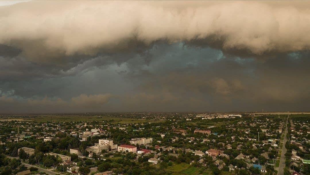 Небо над Приморськом 4 липня