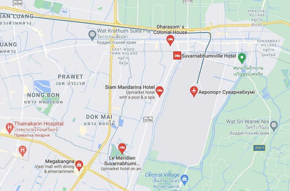НП трапилася в районі Банг-Пхлі недалеко від аеропорту Суварнабхумі