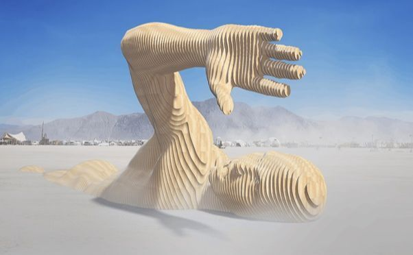 Огромную скульптуру создали для известного фестиваля Burning man.