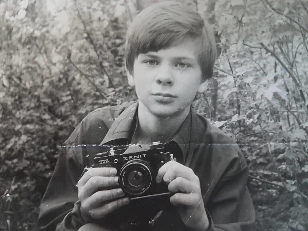 Дмитрий Комаров в юности