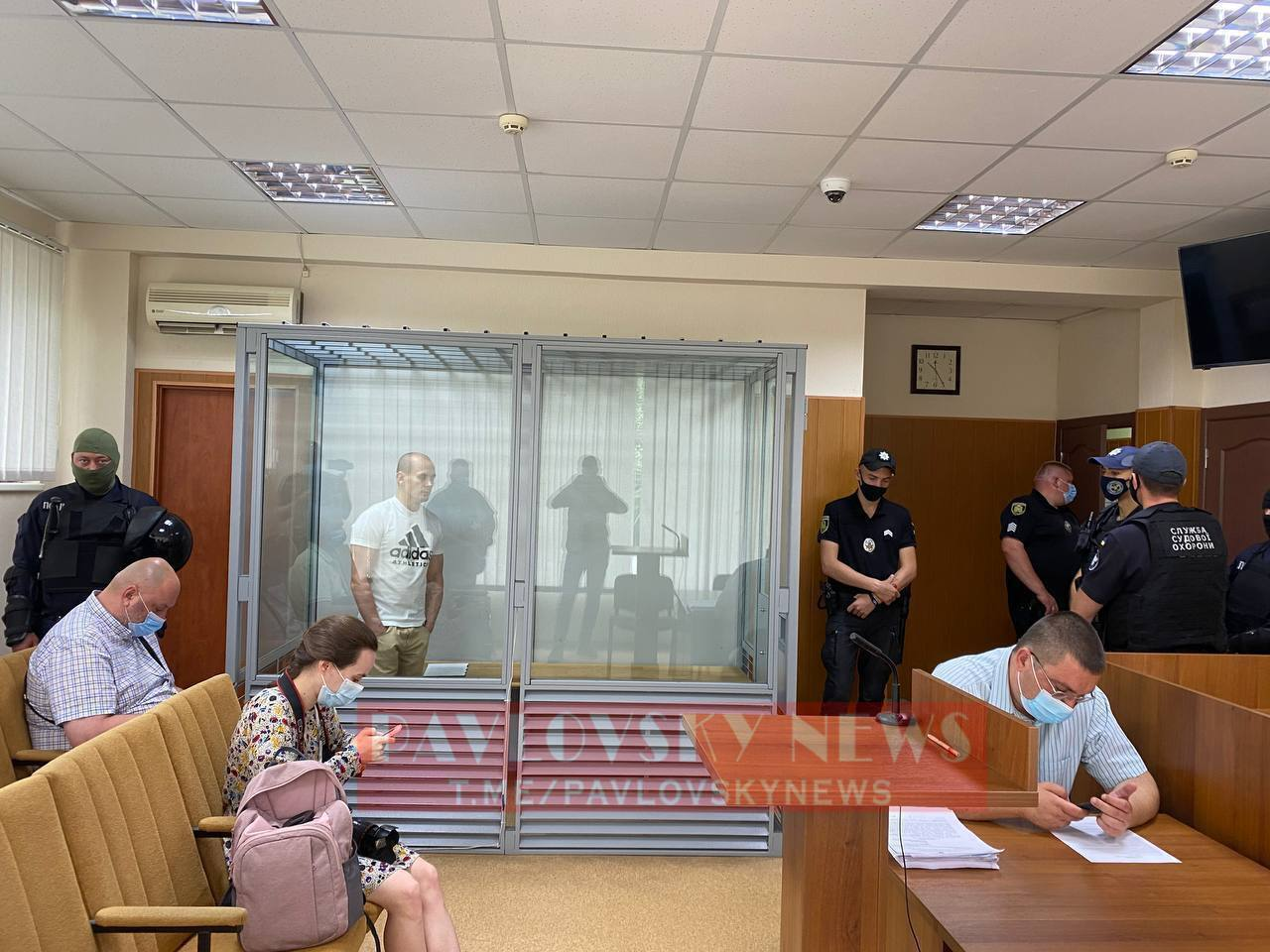 Олег Ширяев в зале суда