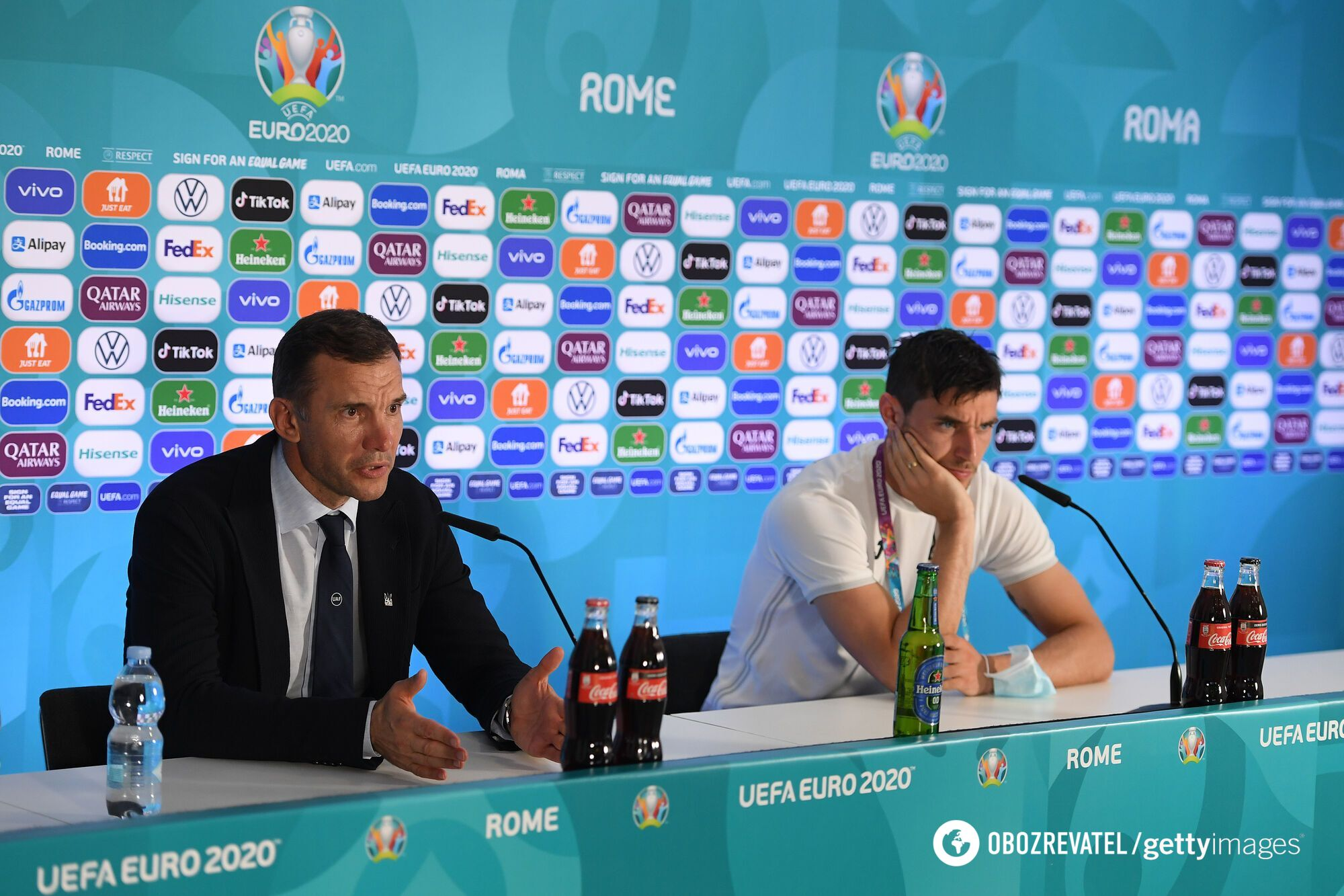 Шевченко і Яремчук на пресконференції