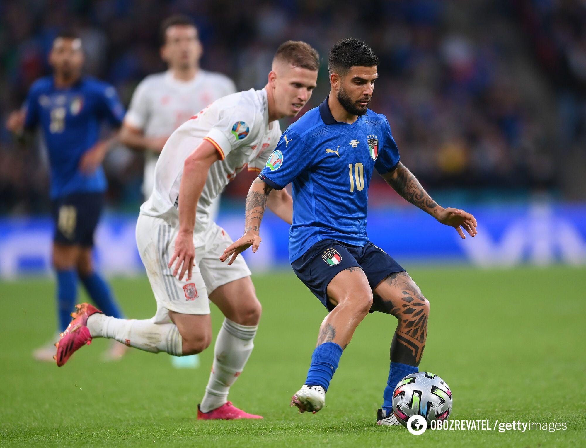 Италия забила первой.