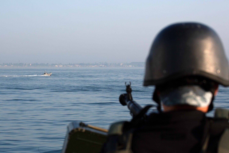 """Корабель Морської охорони """"Поділля"""" виконував схожий перелік вправ"""