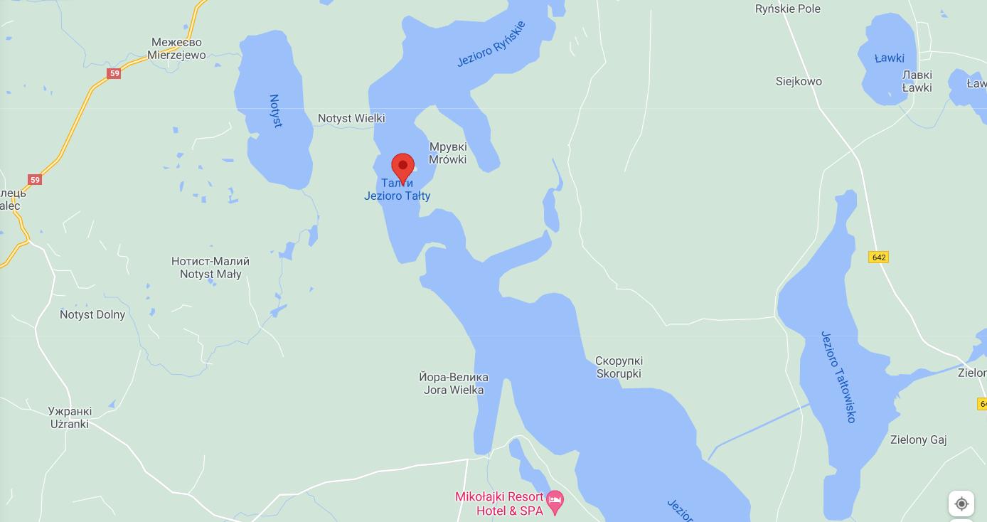 Озеро Талти. Карта