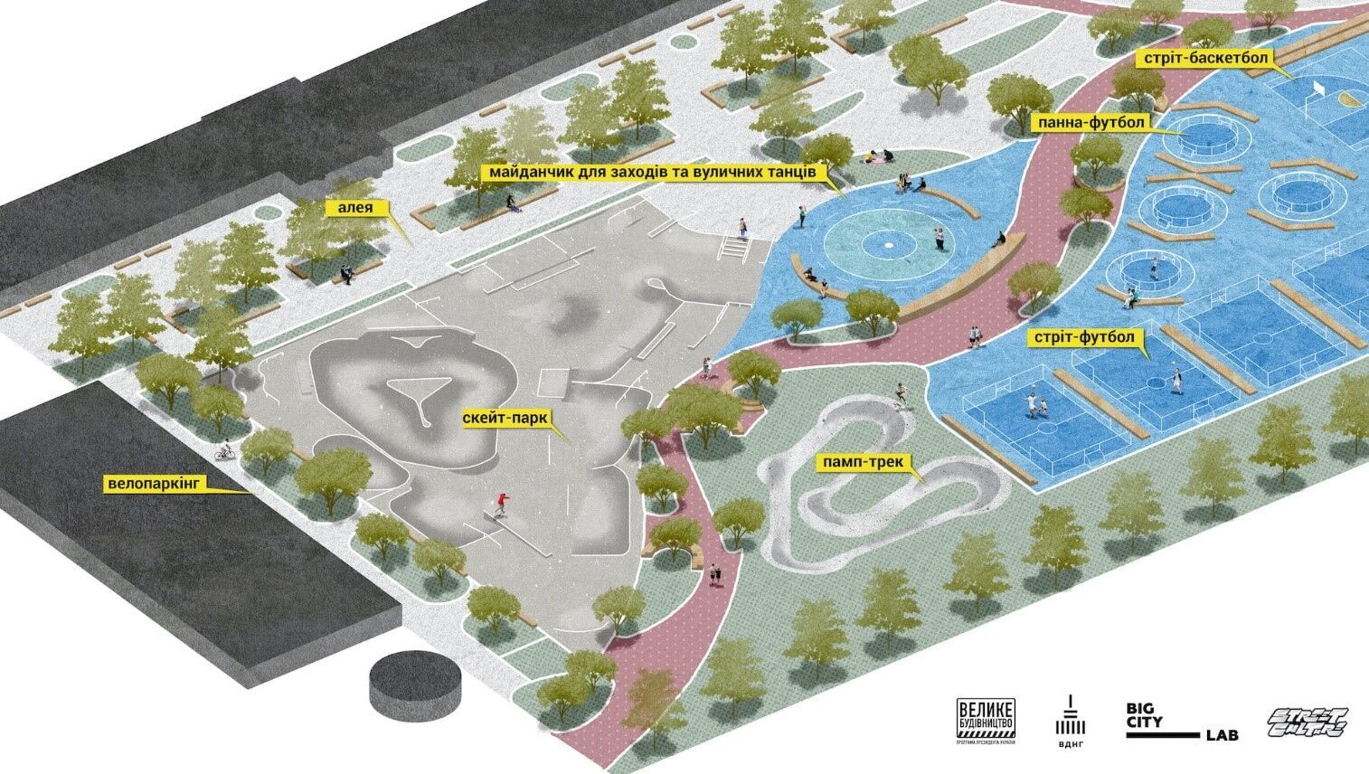 """Стало известно, каким будет урбан-парк на ВДНГ: его создают по программе """"Большая стройка"""""""