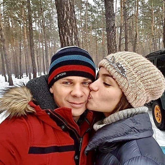 Дмитрий Комаров и его жена Александра Кучеренко