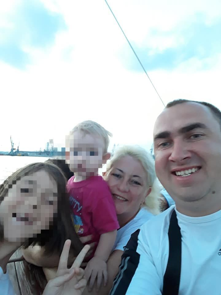 Бродовський з родиною.