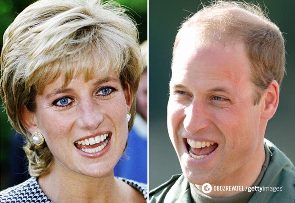 Принцесса Диана и принц Уильям.