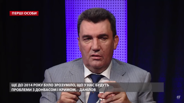 Олексій Данілов у студії українського телеканалу