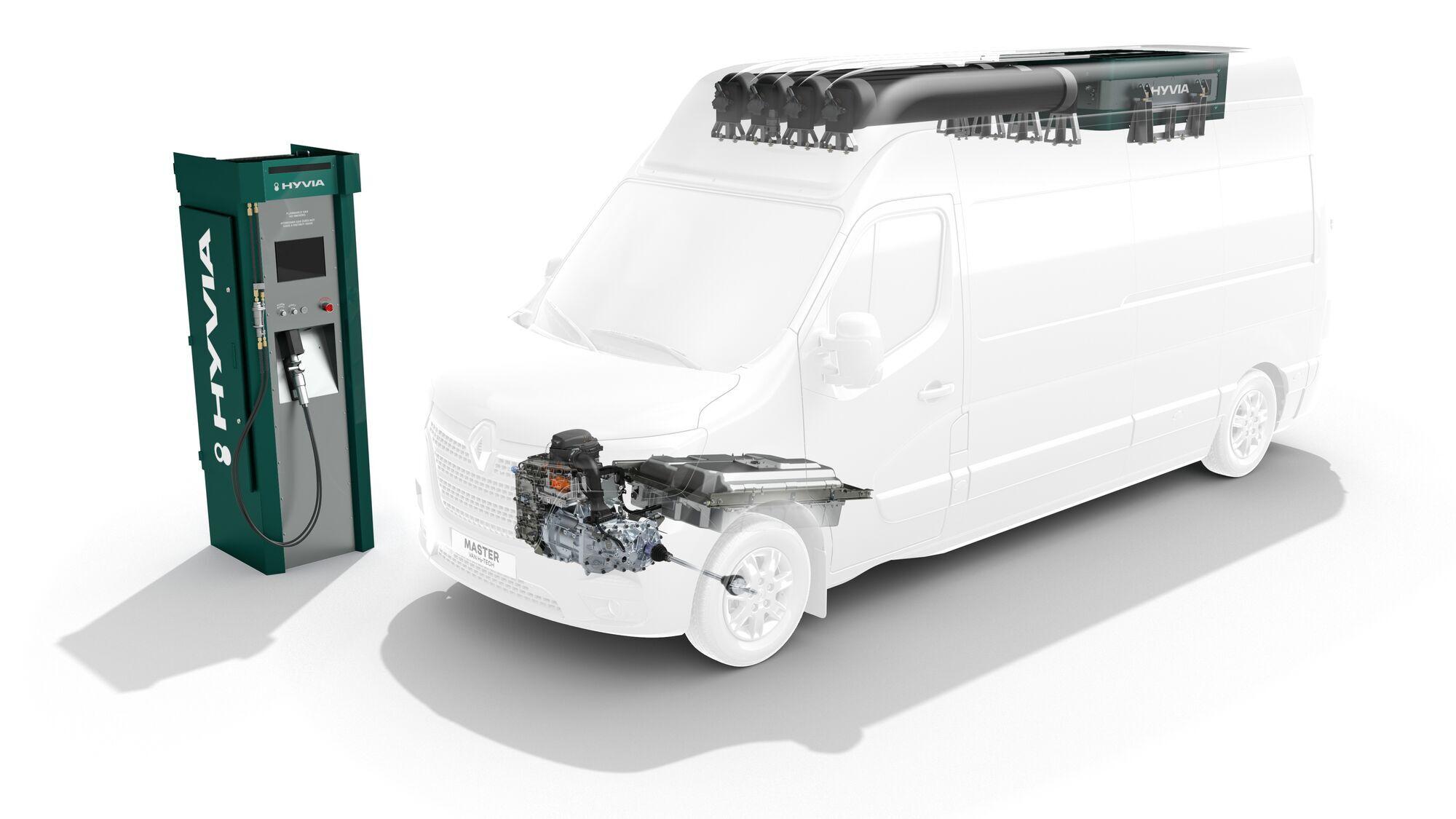 Розташування компонентів водневої установки в машинах із суцільнометалевим кузовом