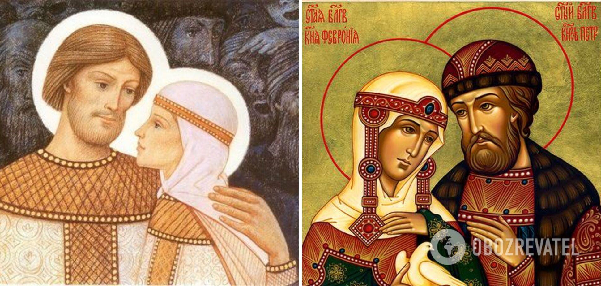 Подружжя Петра і Февронії зображують на іконах