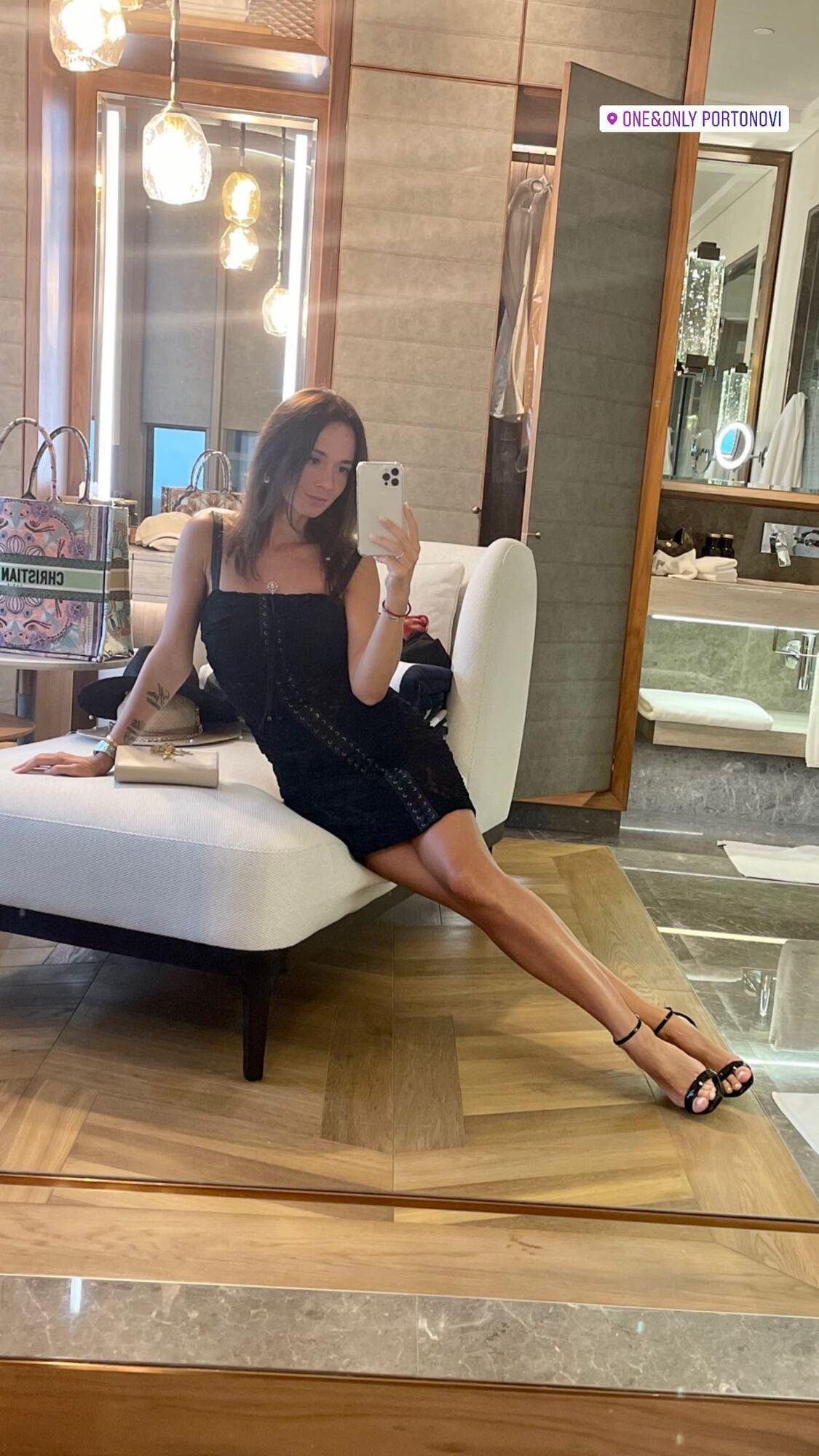 Анна Сидорчук в вечернем платье