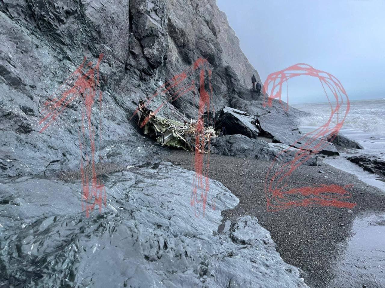 Місце катастрофи Ан-26 на Камчатці.