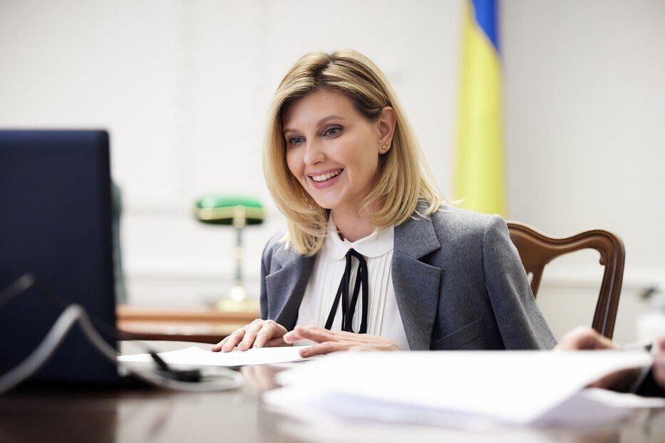 Елена Зеленская на встрече