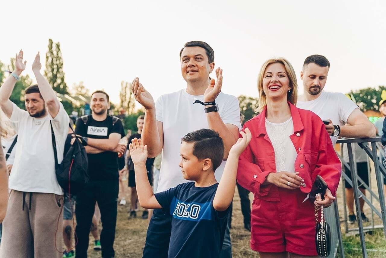 Разумков с женой Юлией и сыном