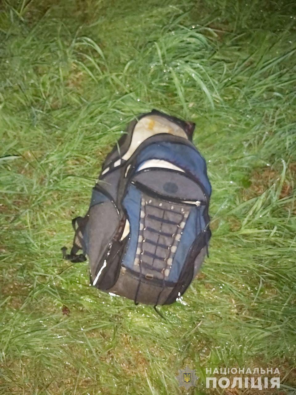 Рюкзак затриманого із вкраденими речами