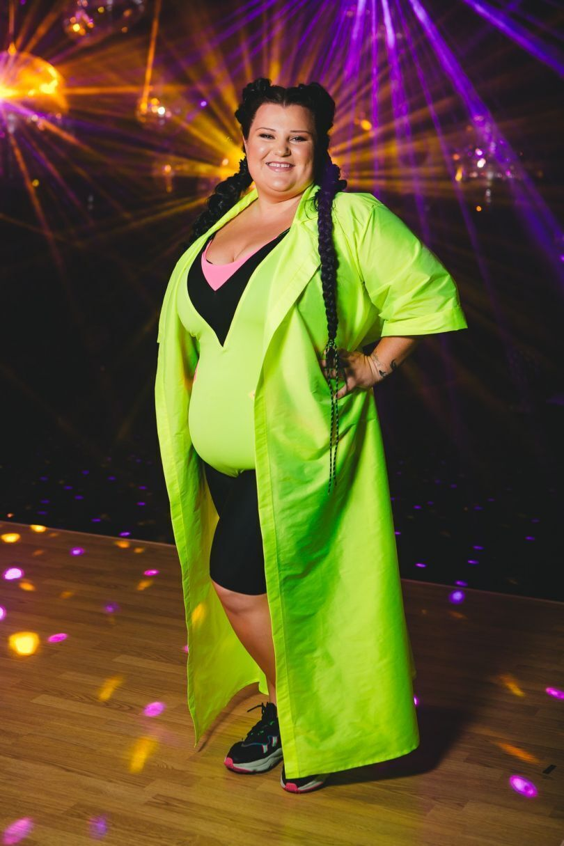 Алена Савраненко на съемках шоу.