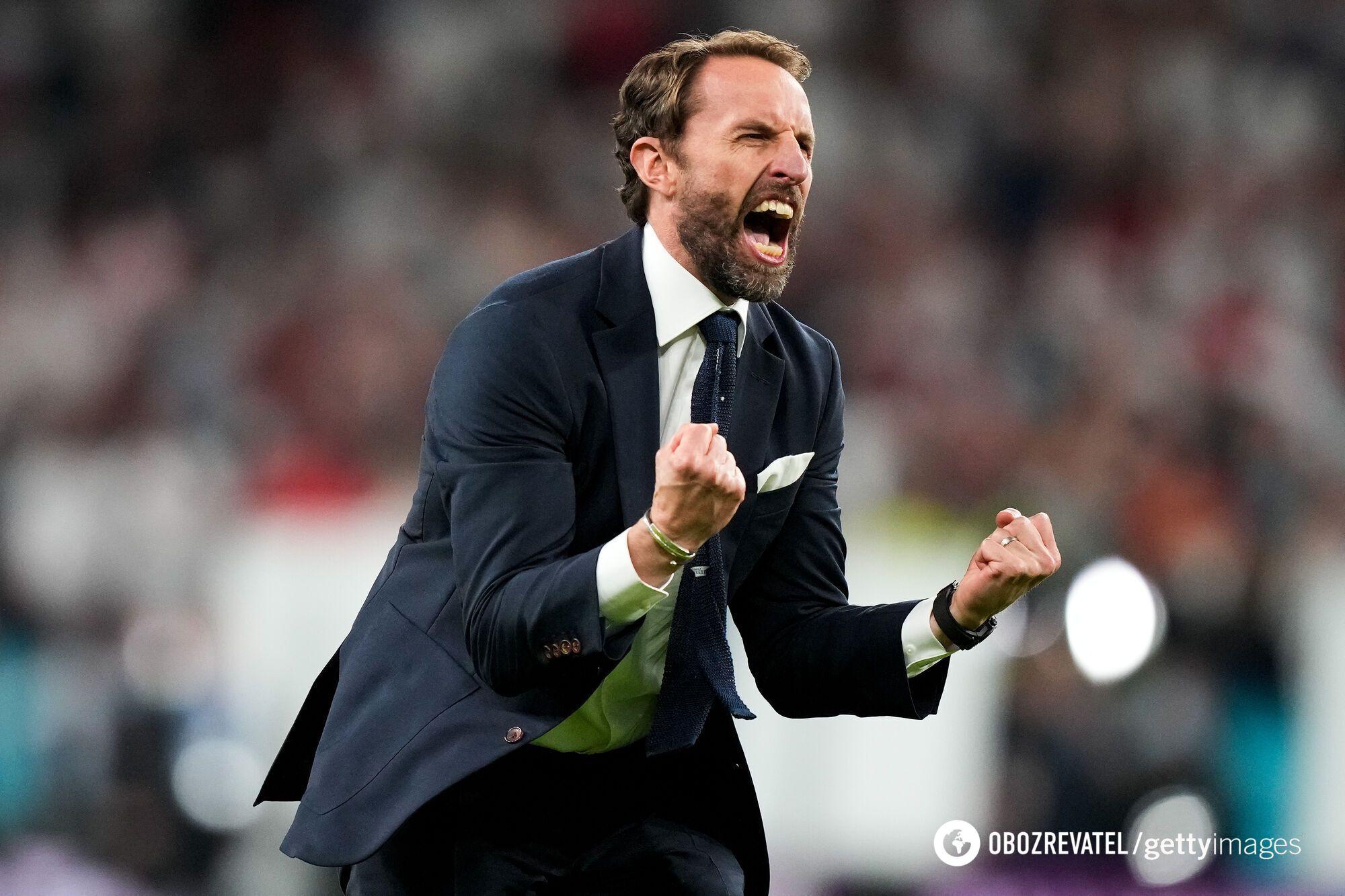 Саутгейт святкує вихід Англії у фінал Євро-2020
