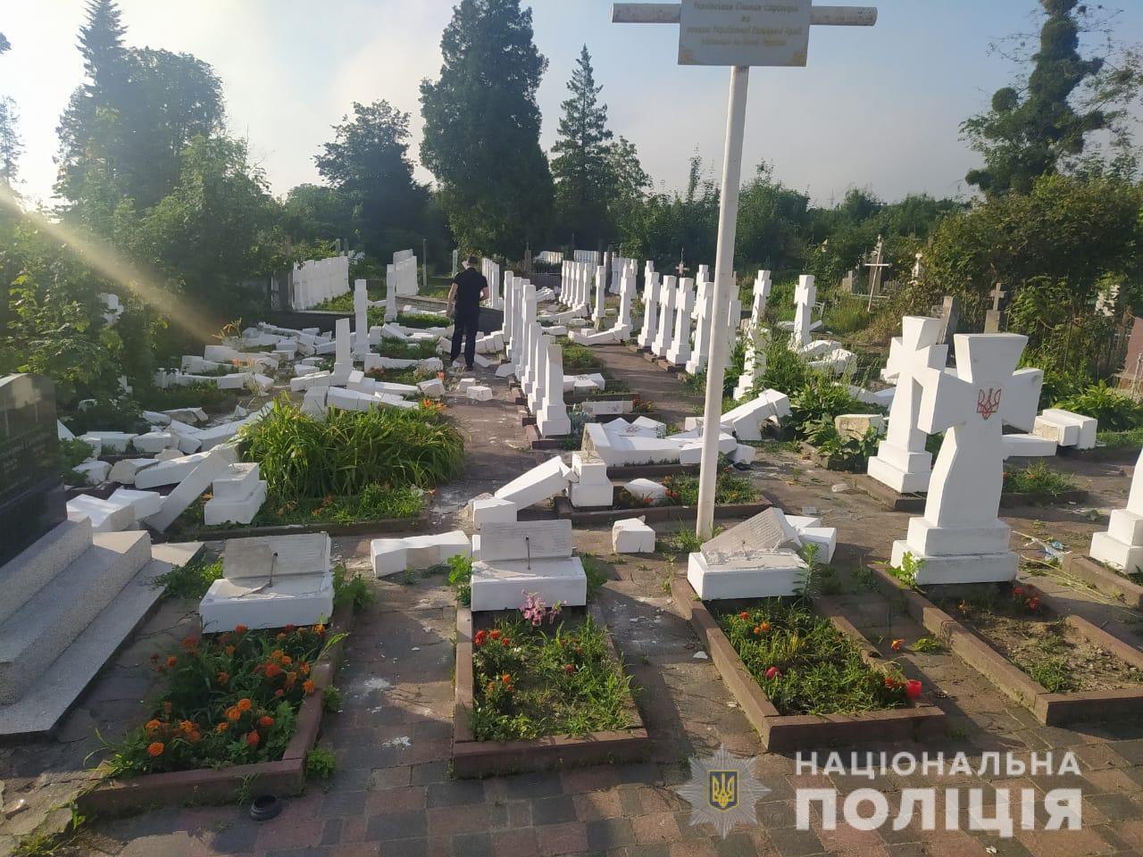 Погром на кладбище