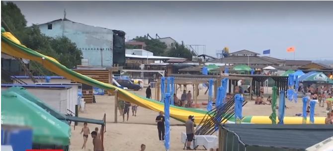 Пляж в Кирилівці.