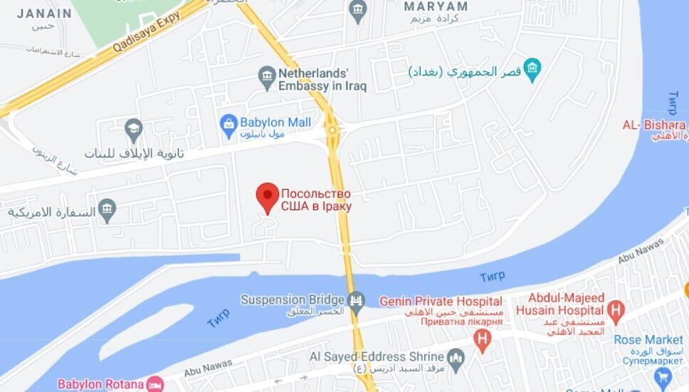 """Здание посольства США в Ираке расположено в районе """"зеленой зоны"""" Багдада"""