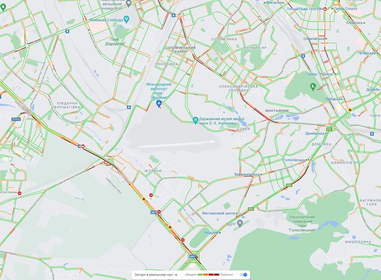 Кольцевая дорога, проспекты Голосеевский и Лобановского.