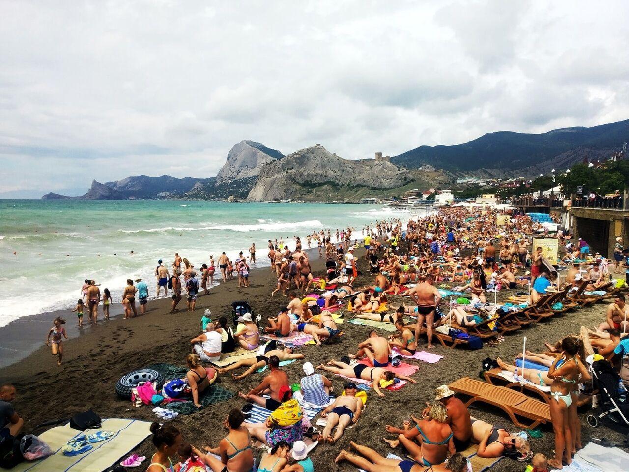 Судак: пляжі переповнені