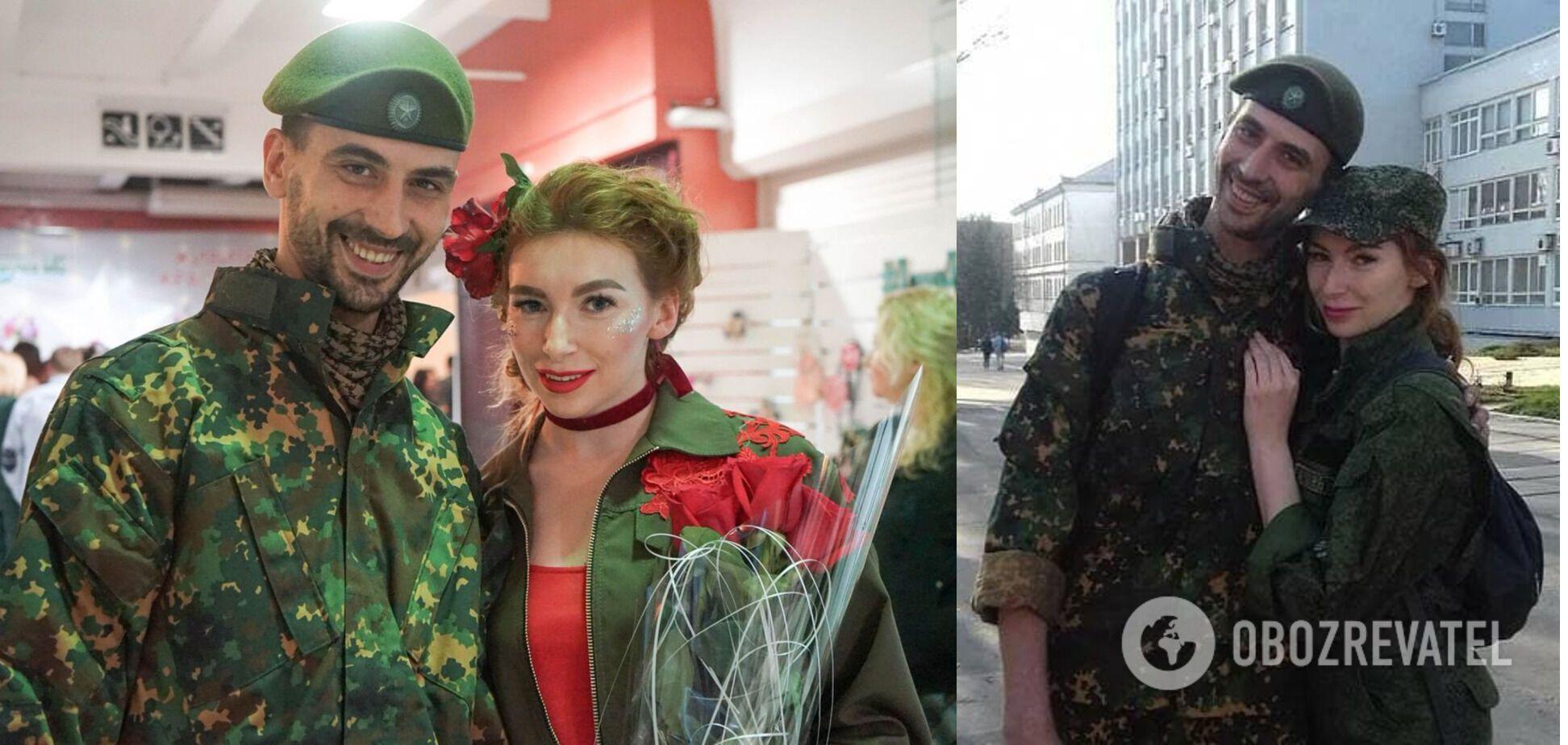 Катина с возлюбленным – снайпером Андреем Куцким