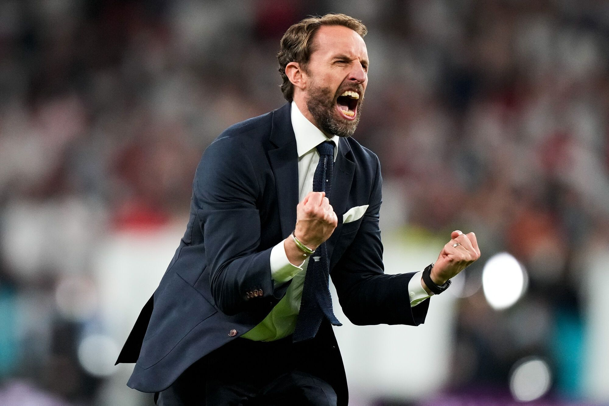Саутгейт празднует выход Англии в финал Евро-2020