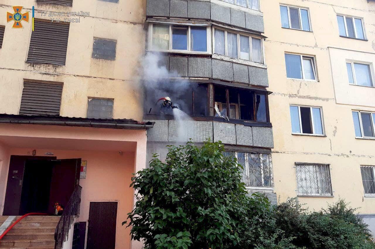 Вогонь виник на балконі.