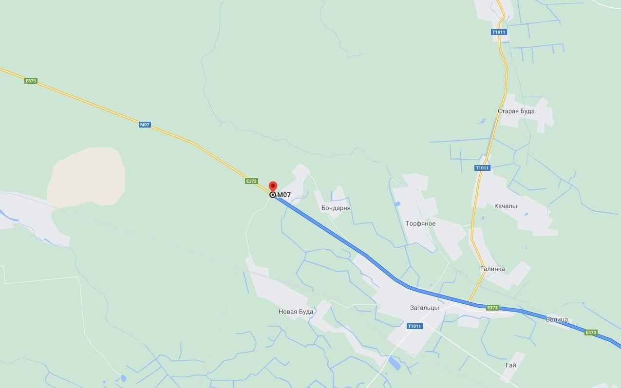 Авария произошла на 44 км автодороги Киев – Ковель .