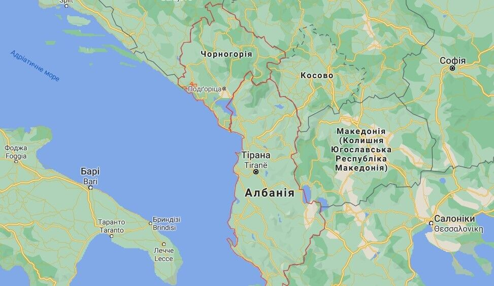Инцидент с задержанием автобуса с украинцами произошел на границе Черногории с Албанией