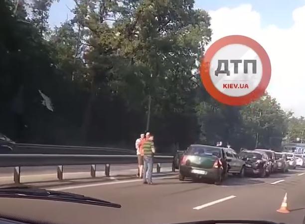 Столкнулись пять авто